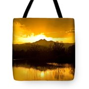 Sunset On Golden Ponds Tote Bag