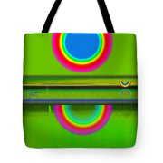 Sunset On Green Tote Bag