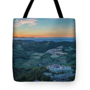 Sunset On Hills Tote Bag