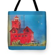 Sunset On Holland Light Tote Bag