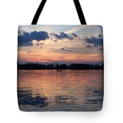 Sunset On Lake Mattoon Tote Bag