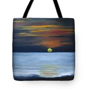 Sunset On Lake Michigan Tote Bag