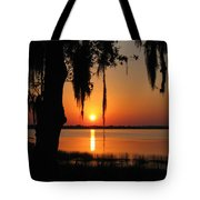 Sunset On Lake Minneola Tote Bag