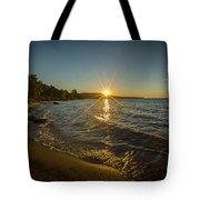Sunset On Lake Superior Tote Bag