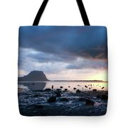 Sunset On Le Morne Tote Bag