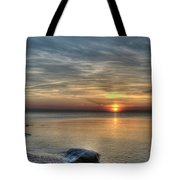 Sunset On Long Island Sound Tote Bag