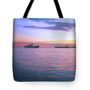 Sunset On Manila Bay Tote Bag