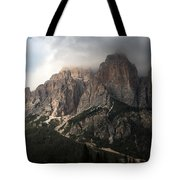 Sunset On Mighty Mountain Tote Bag