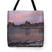 Sunset On Mono Lake Tote Bag