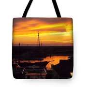 Sunset On Morro Bay Tote Bag