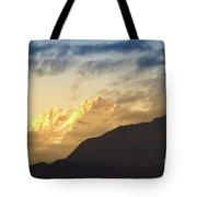 Sunset On Mount Kanchenjugha At Dusk Sikkim Tote Bag