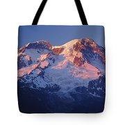 1m4876-sunset On Mt. Rainier  Tote Bag