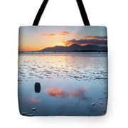 Sunset On New Year's Day Tyrella Beach Tote Bag