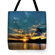 Sunset On Nicks Lake Tote Bag