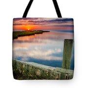 Sunset On Pamlico Sound Tote Bag