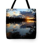 Sunset On Polly Lake Tote Bag