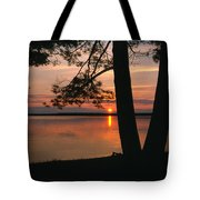 Sunset On Sister Bay Tote Bag