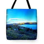 Sunset On Skaha Lake Tote Bag