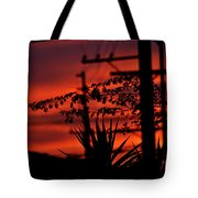 Sunset On Socal Suburb Tote Bag