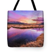 Sunset On Sparks Marsh Tote Bag