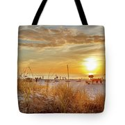 Sunset On St Pete Tote Bag