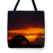 Sunset On The Battlefield Tote Bag