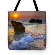 Sunset On The Beach Tote Bag