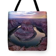 Sunset On The Bend Tote Bag by T A Davies
