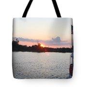 Sunset On The Cape Fear River North Carolina Tote Bag