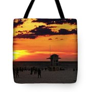 Sunset On The Clearwater Beach Tote Bag