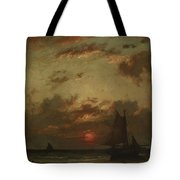 Sunset On The Coast 1870 Tote Bag
