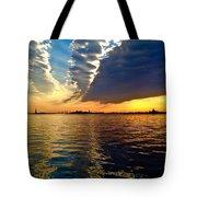 Sunset On The Hudson 03 New York Tote Bag