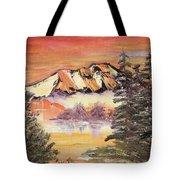 Sunset On The Lake Tote Bag