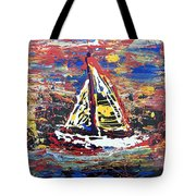 Sunset On The Lake Tote Bag by J R Seymour