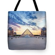 Sunset On The Louvre Tote Bag