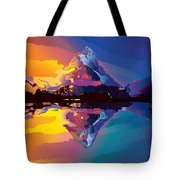 Sunset On The Mountains Tote Bag