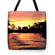 Sunset On The Murray River Tote Bag