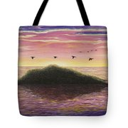 Sunset On The Pacific Tote Bag