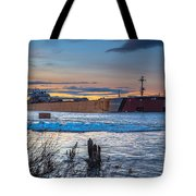 Sunset On The Presque Isle 7824 Tote Bag
