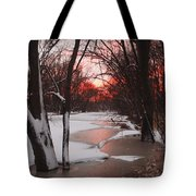 Sunset On The Red Cedar Tote Bag