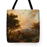 Sunset On The Rhine Tote Bag