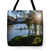 Sunset On The River - Seville  Tote Bag