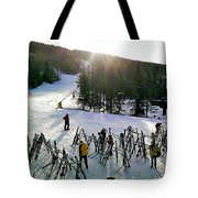 Sunset On The Slopes Tote Bag