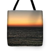 Sunset Over Ceaserea Tote Bag