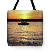 Sunset On The Strand Tote Bag