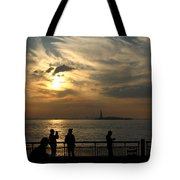 Sunset On The Upper Bay Tote Bag