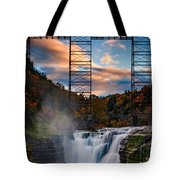 Sunset On The Upper Falls Tote Bag