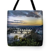 Sunset On The Vltava Tote Bag