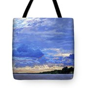 Sunset On The Volga. Gorodets Tote Bag