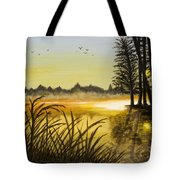 Sunset On The Water Tote Bag